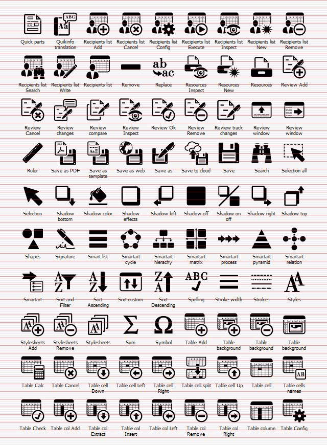 Shape Icons Office